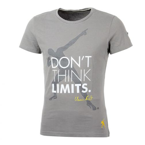 T-shirt Don't  Usain Bolt Grigio Vintage