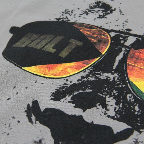 T-shirt Leone  Usain Bolt Grigio UsainBolt