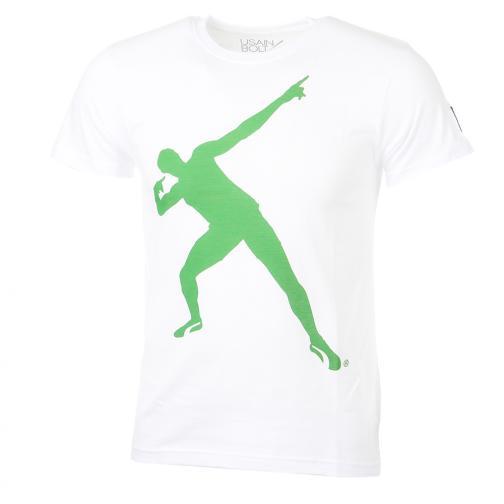 T-shirt  Usain Bolt Bianco Verde