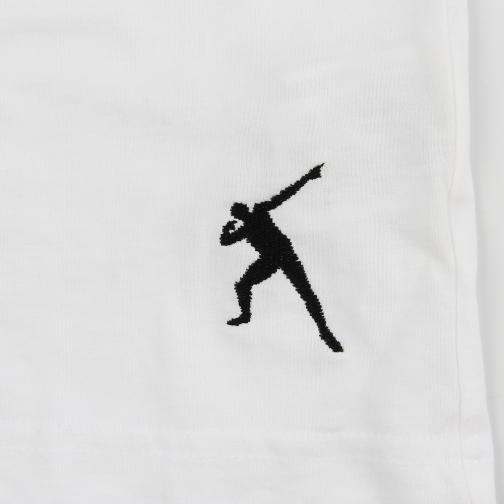 T-shirt Run  Usain Bolt Bianco Vintage UsainBolt