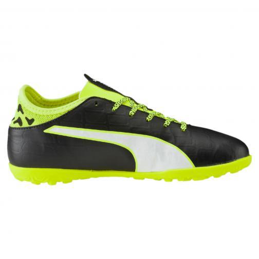 Puma Chaussures De Futsal Evotouch 3 Tt Jr  Enfant black-white-safety yellow Tifoshop