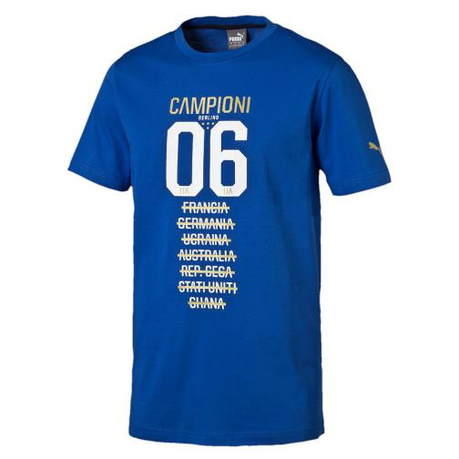Figc Tribute 2006 Tee Team Power Blue FIGC Store
