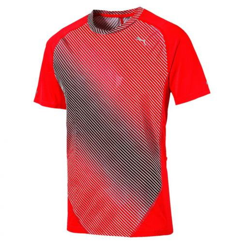 Puma T-shirt Graphic S/s Tee Red Blast-AOP graphic