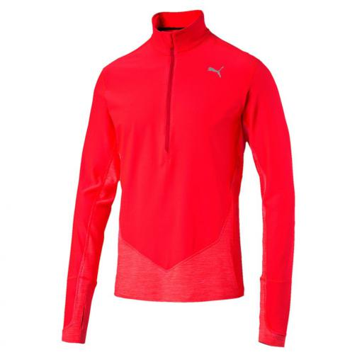 Puma Maillot L/s 1/2 Zip Top Red Blast
