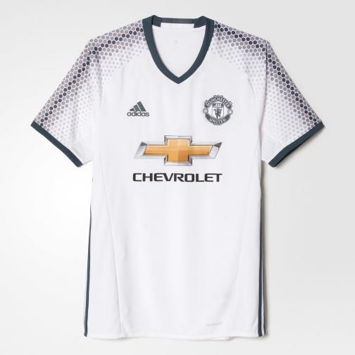 Adidas Maglia Gara Terza Manchester United   16/17 Bianco