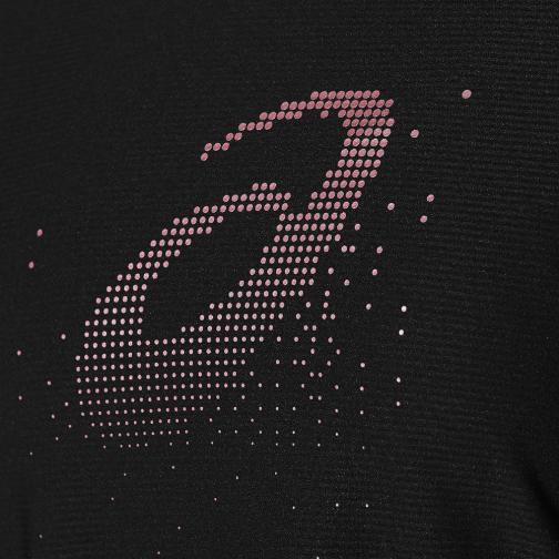 Asics T-shirt Graphic Ss Top  Donna Nero Tifoshop