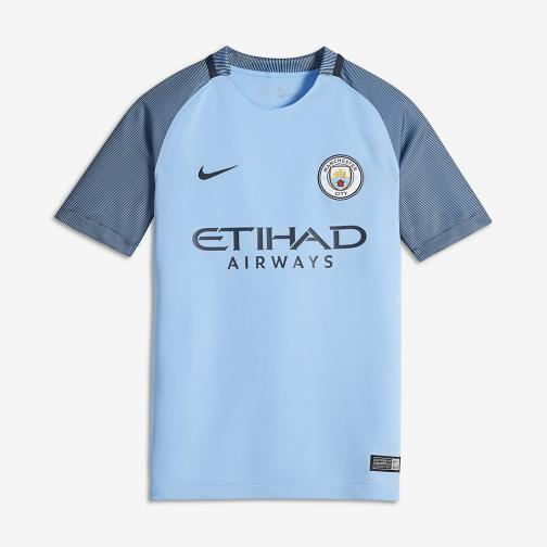 Nike Maillot De Match Home Manchester City Enfant  16/17 FIELD BLUE/MIDNIGHT NAVY/MIDNIGHT NAVY