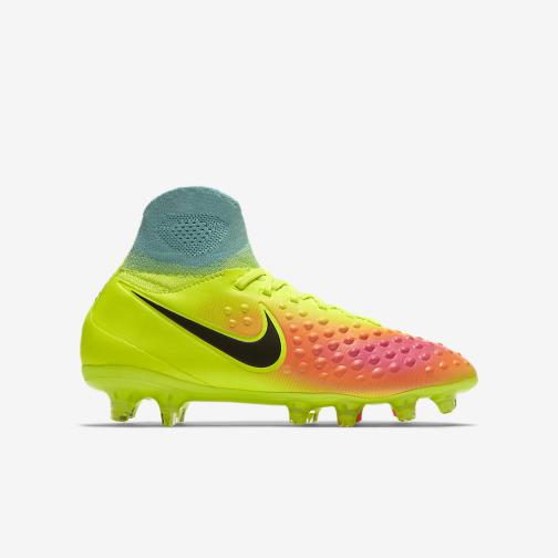 Nike Chaussures De Football Magista Obra Ii Fg  Enfant VOLT/BLACK-TOTAL ORANGE-PINK BLAST