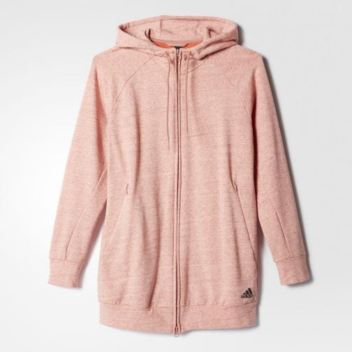 Adidas Sweat Cotton Fleece Fullzip Hoody  Femmes pepper raw pink mel Tifoshop