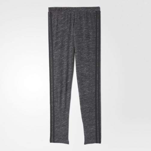 Adidas Originals Pantalone 3 Stripes Leggings  Donna Grigio