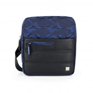 CROSS-OVER-TASCHEN  CAMOUFLAGE BLUE