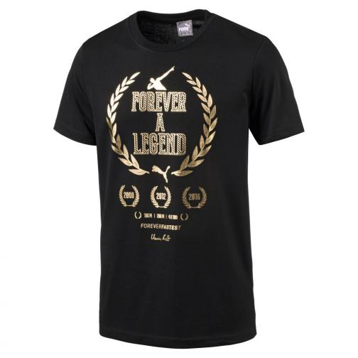 Puma T-shirt Greatest Hits Man Tee  Usain Bolt Nero