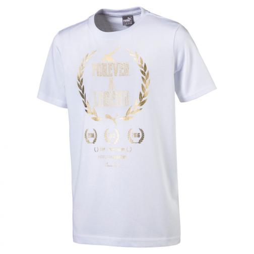 Puma T-shirt Greatest Hits Tee Junior Usain Bolt Bianco