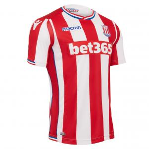 Macron Maillot de Match Home Stoke City   17/18