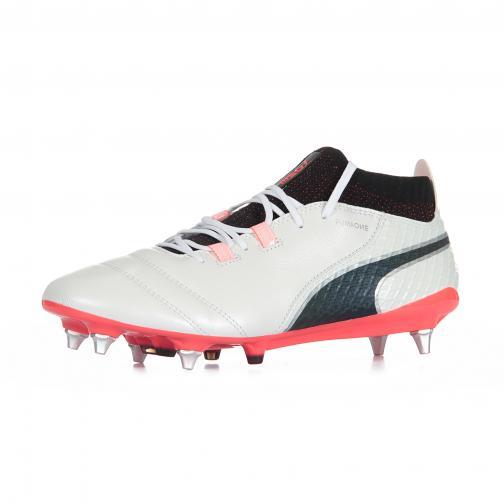 Scarpa Puma One 17.1 Mx Sg Bianco/Nero/Corallo FIGC Store